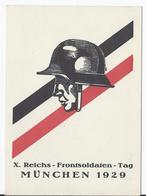 DT- Reich (001573) Propagandakarte Stahlhelmbund X. Reichs- Frontsoldaten- Tag München 1929, Ungebraucht - Germany