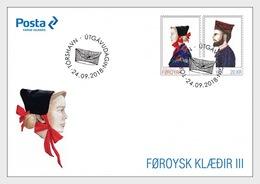 Faeroër / Faroes - Postfris / MNH - FDC Traditionele Klederdracht 2018 - Faeroër