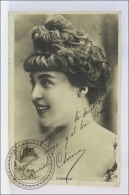Old  1910s Actress Real Photo Postcard: D'Horvilly - Edited Reutlinger Paris - Posted - Actores