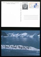 TAAF - Entier Postal - (Carte Postale) Armoiries / Amiral Max Douguet 1988 - Enteros Postales