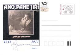 Rep. Ceca / Cart. Postali (Pre2016/32) Jiri Grossmann (1941-1971); 75 ° Compleanno - Interi Postali