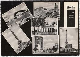 Berlin. U.a. Flugh. Tempelhof, Musikhochschule, Schiller Theater, Siegessäule - 'TELEFUNKEN' Neon - (BRD) - Mitte