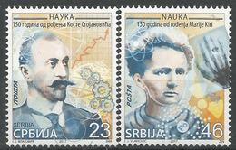 SRB 2017-30-1 FAMOUSE PERSONS MARIE CURIE, SERBIA, 1 X 2v, MNH - Serbien