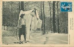 - Vendée- Ref-E565 - Noël Vendéen - L Ange De Noël - Anges - Surrealisme - Carte Bon Etat - - Unclassified