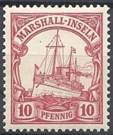 Marshall Isl. 1901 Kaiser's Yacht, 10pf Carmine # Michel 15 - Scott 15 - Yvert 15  USED - Colonie: Marshall