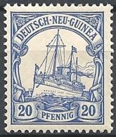 New Guinea, 1901 Kaiser's Yacht, 20pf Ultra # Michel 10 - Scott 10 - Yvert 10  USED - Colonie: Nouvelle Guinée