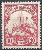 New Guinea, 1905 Kaiser's Yacht, 10pf Carmine, Wmk  Lozenges # Michel 22 - Scott 22 - Yvert 22  USED - Colony: German New Guinea