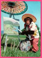 Monkey - Artiste Singe Faisant De La Peinture - Peintre - Paysage - Gebr. SPANJERSBERG - Monos