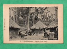 Afrique   Congo Français Republique Centrafrcaine Banghi Bangui Village Indigene - Centrafricaine (République)