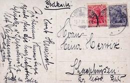 Karte 1920 - Deutschland