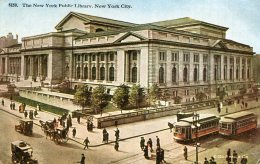 UNITED STATES -  The New York Public Library - Superb Trams Etc 1919 - New York City