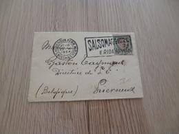 Lettre Italie Italia Genova Ferr. 2 Pour Lierneux Pub Oblitération Salsomaggiore - Poststempel
