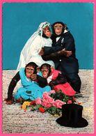 Cp Dentelée - Monkey - Papa Et Maman Singe Se Marient - Enfants Singe - Mariage - KRUGER - 1966 - Monos