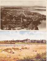 2 Postcards Scotland Fife St Andrews From The South Aerial ? RPPC & From The Sands Unposted & Posted 1947 - Fife
