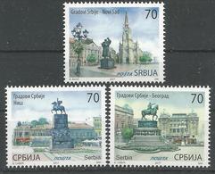 SRB 2017-732-4 CITIES O SERBIA, SERBIA SRBIJA, 1 X 3v, MNH - Serbia