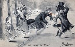 """CHATS: """"Le Coup De Vent"""",signé Maurice Boulanger,tbetaten 1904,dos Non Divisé - Chats"""