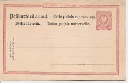 DR P 15-02 ** 10 Pf Kl. Adler - Doppelkarte - Alemania