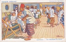 Illustrateurs - Signés > Gervese, H. Croquis D'escale Colombo Les Marchands De Bijoux - Gervese, H.