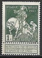 BELGIQUE   -   1910.   Y&T N° 88 (*) - 1910-1911 Caritas
