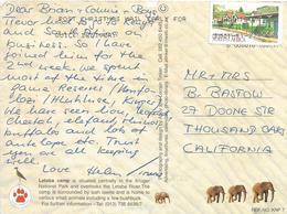 RSA South Africa 2001 Germiston Village Street Kruger Airmail Viewcard Rate - Afrique Du Sud (1961-...)