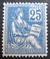 R1692/14 - 1900 - TYPE MOUCHON - N°127 NEUF* - LUXE - (minuscule Fente) - Cote : 120,00 € - Errors & Oddities
