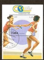 Cuba 1992 Yvertnr. Bloc 132 (o) Oblitéré Used Cote 4,50 Euro Sport Athlétisme - Blocs-feuillets