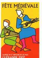 Flyers, Fête Médiévale GUERANDE 2007(44) Loire Atlantique, Ce N'est Pas Une Carte Postale - Saisons & Fêtes