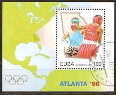 Cuba 1995 Yvertnr. Bloc 140 (o) Oblitéré Used Cote 5 Euro Sport Jeux Olympiques Atlanta '96 - Blocs-feuillets