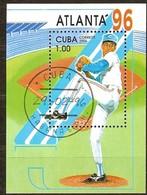 Cuba 1996 Yvertnr. Bloc 144 (o) Oblitéré Used Cote 5 Euro Sport Jeux Olympiques Atlanta '96 - Blocs-feuillets