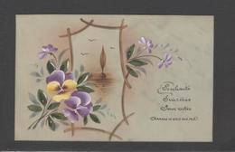 Themes Div-ref Y182- Carte Matiere Celluloide -celluloid - Aquarelle - Dessin - Peinture - - Cartes Postales