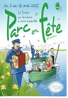 Flyers Souple, Parc En Fête La BRIERE (44) Loire Atlantique, Ce N'est Pas Une Carte Postale, Accordéon - Musical Instruments