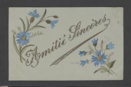 Themes Div-ref Y180- Carte Matiere Celluloide -celluloid - Aquarelle - Dessin - Peinture - Amitié Sincere - - Cartes Postales