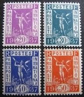 R1692/20 - 1936 - PROPAGANDE POUR L'EXPOSITION INTERNATIONALE DE PARIS DE 1937 - N°322 à 325 NEUFS** - France