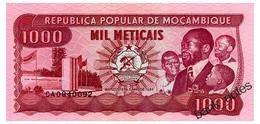 MOZAMBIQUE 1000 METICAIS 1989 Pick 132c Unc - Mozambique