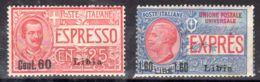 1.6.1922; Libyen - Ital. Kolonie, Eilmarken Mit Aufdruck Libia, Mi-Nr. 43 + 44; Postfrisch; Los 50059 - Libya
