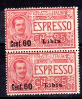 1.6.1922; Libyen - Ital. Kolonie, Eilmarken Mit Aufdruck Libia, Mi-Nr. 43 Im Paar; Postfrisch; Los 50060 - Libya