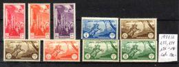 1931 / 1932; Libyen - Flugpost - Ital. Kolonie, Tripolitania, Mi-Nr. 133, 134, 136 - 140; Mit Falzs; Neu *Los 50063 - Tripolitaine