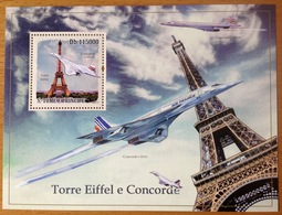 CONCORDE Air France TOME & PRINCIPE 2010 Tour Eiffel NEUF MNH - Airplanes