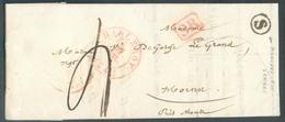 LAC De CHARLEROI Le 20 Juillet 1841 + Boîte S De MONCEAU-sur-SAMBRE + Griffe Enc. SR Vers Hornu. - Luxe -  13991 - 1830-1849 (Belgique Indépendante)