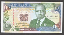KENYA.  : 10 Schillings - 1990 - P24b - UNC - Kenia