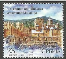 SRB 2018-09 600a°MONASTIR, SERBIA, 1 X 1v, MNH - Serbien