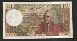 FRANCE - BANQUE De FRANCE - 10 Francs VOLTAIRE ( H. 4 / 2 / 1971 ) Serie: C. 665 - 1962-1997 ''Francs''