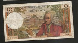 FRANCE - BANQUE De FRANCE - 10 Francs VOLTAIRE ( K. 2 / 11 / 1967 ) Serie: U. 369 - 1962-1997 ''Francs''