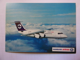 AIRLINE ISSUE / CARTE COMPAGNIE    HAMBURG AIRLINES  BA 146 300 - 1946-....: Moderne