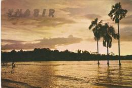 ATARDECER EN LAGUNA SUNSET. CANAIMA, VENEZUELA, EMETROCA. QSL CIRCULEE ARGENTINE 1977 YV4BIR - BLEUP - Radio-amateur
