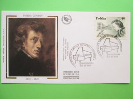 1999 Joint France / Poland - Chopin Death 150th Anniversary - French-origin Polish FDC - Joint Issues