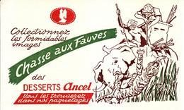 Buvard : Chasse Aux Fauves Des Desserts Ancel - NEUF - - Cake & Candy