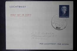 Nederland: Luchtbrief Lchtpostblad  Nr 4  First Day Of Issue 1-5-1952 - Ganzsachen