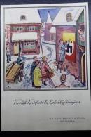 Nederland:  1945 Vroolijk Kerstfeest Etc.  NV H. Vettewinkel En Zonen Amsterdam, Kaart (dun) - Periodo 1891 – 1948 (Wilhelmina)