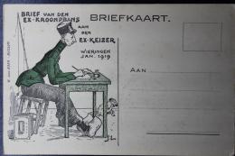 Nederland:  Propaganda Kaart Ex Kroonprins Aan Ex Keizer  Wieringen Jan 1919 , Met Tekst Achterzijde - 1891-1948 (Wilhelmine)